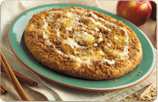 Cinnamon Apple Crisp Dessert Pizza